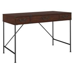 kathy ireland® Home by Bush Furniture Ironworks Writing Desk, Coastal Cherry, Standard Delivery