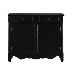 "Powell Balfour 2-Door Console Table, 41""H x 36-1/4""W x 11""D, Black"