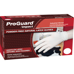 ProGuard Disposable Latex Powder-Free General Purpose Gloves, X-Large, White, 100 Per Box, Case Of 10 Boxes
