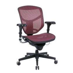WorkPro® Quantum 9000 Mesh Series Ergonomic Mid-Back Chair, Red/Black