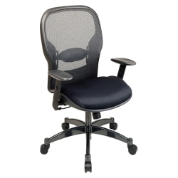 "Office Star™ Professional Matrex® Mesh Chair, 46 1/4""H x 27 1/4""W x 25 3/4""D, Black/Gunmetal"