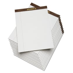 "SKILCRAFT® 30% Recycled Perforated Writing Pads, 8 1/2"" x 11"", White, Legal Ruled, Pack Of 12 (AbilityOne 7530-01-372-3108)"