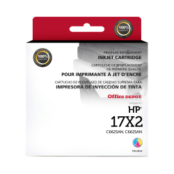 Clover Imaging Group™ OD25ANX2 Remanufactured Tri-Color Ink Cartridges Replacement For HP 17, Pack Of 2