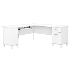 "Bush Furniture Somerset 72""W L-Shaped Desk, White, Standard Delivery"