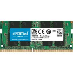Crucial 4GB DDR4 SDRAM Memory Module - 4 GB - DDR4-2400/PC4-19200 DDR4 SDRAM - 2400 MHz - CL17 - 1.20 V - Non-ECC - Unbuffered - 260-pin - SoDIMM