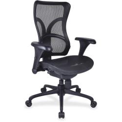 Lorell® Mesh High-Back Chair, Black
