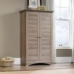 Sauder® Harbor View Storage Cabinet, 4-Shelf, Salt Oak