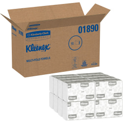Kleenex® Multi-Fold 1-Ply Paper Towels, 150 Per Pack, Case Of 16 Packs