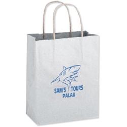"Small White Paper Shopping Bag, 10 1/2""H x 8""W x 4 1/2"" Gusset"