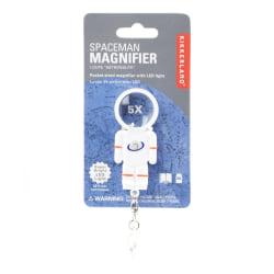 "Kikkerland Design Inc. Mini Spaceman LED Magnifier, 2-5/8"" x 1-1/8"", White"