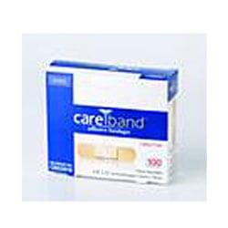 "CAREBAND Sheer Adhesive Bandages, 3/4"" x 3"", Box Of 100"