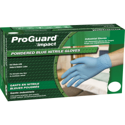 ProGuard General-purpose Disposable Nitrile Gloves, Large, Blue, Box Of 100
