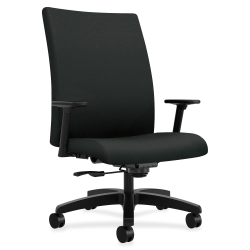 HON® Ignition® Big And Tall Mid-Back Chair, Black