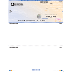 """Custom High Security Laser Multipurpose Voucher Checks For Sage Peachtree®, 8 1/2"""" x 11"""", Box Of 250"""