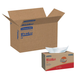 """WypAll L30 Wipers, 10"""" x 9 13/16"""", 120 Wipers Per Box, Carton Of 10 Boxes"""