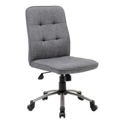 Boss Modern Fabric Mid-Back Task Chair, Slate Gray/Pewter