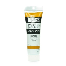 Liquitex Heavy Body Professional Artist Acrylic Colors, 4.65 Oz, Yellow Oxide, Pack Of 2