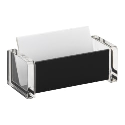 Realspace® Black Acrylic Business Card Holder