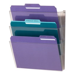 Brenton Studio® Single Wall Pockets, Letter Size, Clear, Pack Of 3