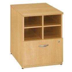 "Bush Business Furniture Components 24""W Lateral 1-Drawer Storage Cabinet, Light Oak/Light Oak, Standard Delivery"
