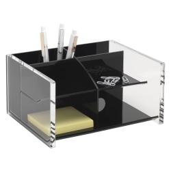 Realspace® Black Acrylic Desk Organizer