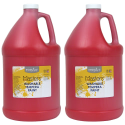 Little Masters™ Washable Tempera Paint, 128 Oz, Red, Pack Of 2