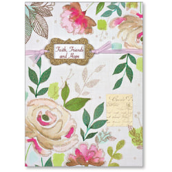 """Viabella Thinking Of You Greeting Card, Faith, Friends And Hope, 5"""" x 7"""", Multicolor"""