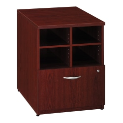 "Bush Business Furniture Components 24""W Lateral 1-Drawer Storage Cabinet, Mahogany/Mahogany, Standard Delivery"