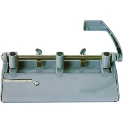 "Heavy-Duty 3-Hole Punch, 13/32"" Holes, Gray (AbilityOne 7520-00-263-3425)"