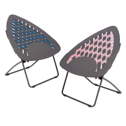 Brenton Studio® Triangle Bungee High-Back Folding Chair, Assorted Colors