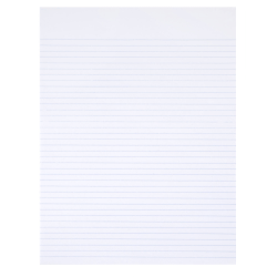 "SKILCRAFT® 30% Recycled Perforated Writing Pads, 8 1/2"" x 11"", White, Narrow Ruled, Pack Of 12 (AbilityOne 7530-01-516-7581)"