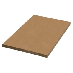 "Office Depot Brand 100% Recycled Material Kraft Corrugated Sheets, 24"" x 60"", Pack Of 20"
