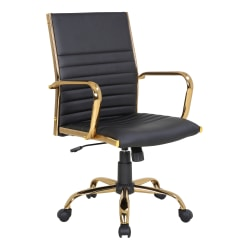 LumiSource Masters Office Chair, Gold/Black
