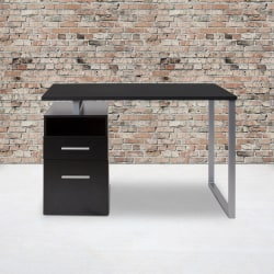 "Flash Furniture 47""W Harwood Desk, Dark Ash"