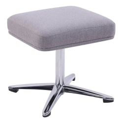 Lorell® Upholstered Ottoman, Gray