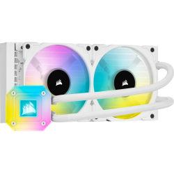 Corsair iCUE H100i ELITE CAPELLIX Liquid CPU Cooler - White - 37 dB(A) Noise - Liquid Cooler Cooler - Magnetic Levitation