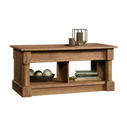 "Sauder® Palladia Lift Top Coffee Table, 19-1/2""H x 43-1/8""W x 21-5/8""D, Vintage Oak"