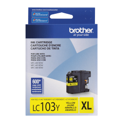 Brother® LC103Y Yellow Ink Cartridge