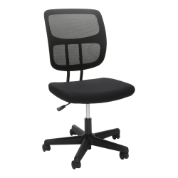 Essentials by OFM Mesh Mid-Back Office Chair, Black