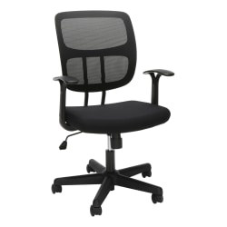 Essentials by OFM Swivel Mesh Mid-Back Office Chair, Black