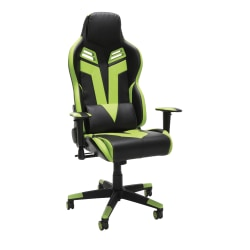 Respawn 104 Racing-Style Bonded Leather Gaming Chair, Green/Black