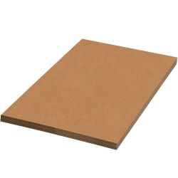 "Office Depot Brand 100% Recycled Material Kraft Corrugated Sheets, 42"" x 48"", Pack Of 20"