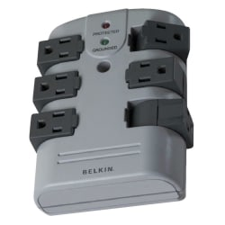 Belkin® Wall-Mounted Surge Protector With 6 Rotating Outlets