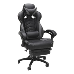 Respawn 110 Racing-Style Bonded Leather Gaming Chair, Gray/Black
