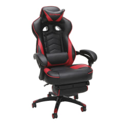 Respawn 110 Racing-Style Bonded Leather Gaming Chair, Red/Black