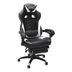 Respawn 110 Racing-Style Bonded Leather Gaming Chair, White/Black