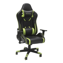 Respawn 120 Racing-Style Bonded Leather Gaming Chair, Green/Black