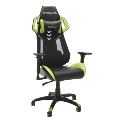 Respawn 200 Racing-Style Bonded Leather Gaming Chair, Green/Black