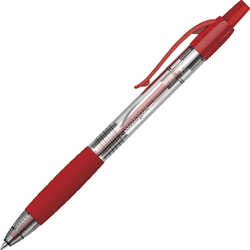 Integra Retractable 0.7mm Gel Pen - 0.7 mm Pen Point Size - Red Gel-based Ink - 3 / Pack