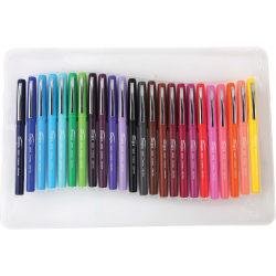 Integra Fineliner Ultra Fine Tip Marker Pen - Ultra Fine Pen Point - Assorted Liquid Ink - Assorted Barrel - 24 / Pack